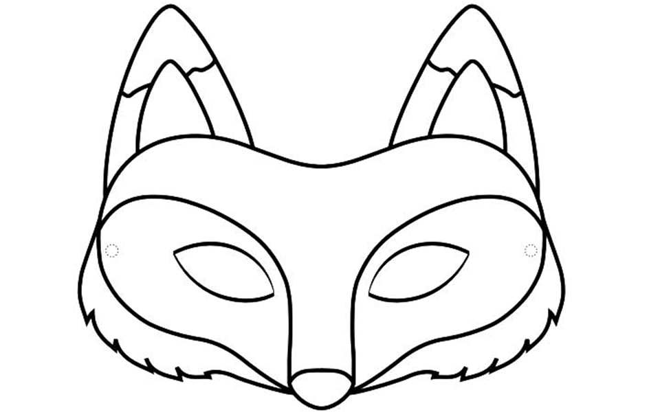 Activit s du mois for Fantastic mr fox mask template