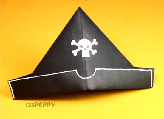 Как сделать из бумаги пиратскую шапку - Азбука идей