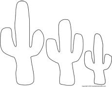 Activit s du mois - Coloriage cactus ...
