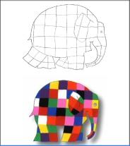 Coloriage Elmer A Imprimer.Activites Du Mois